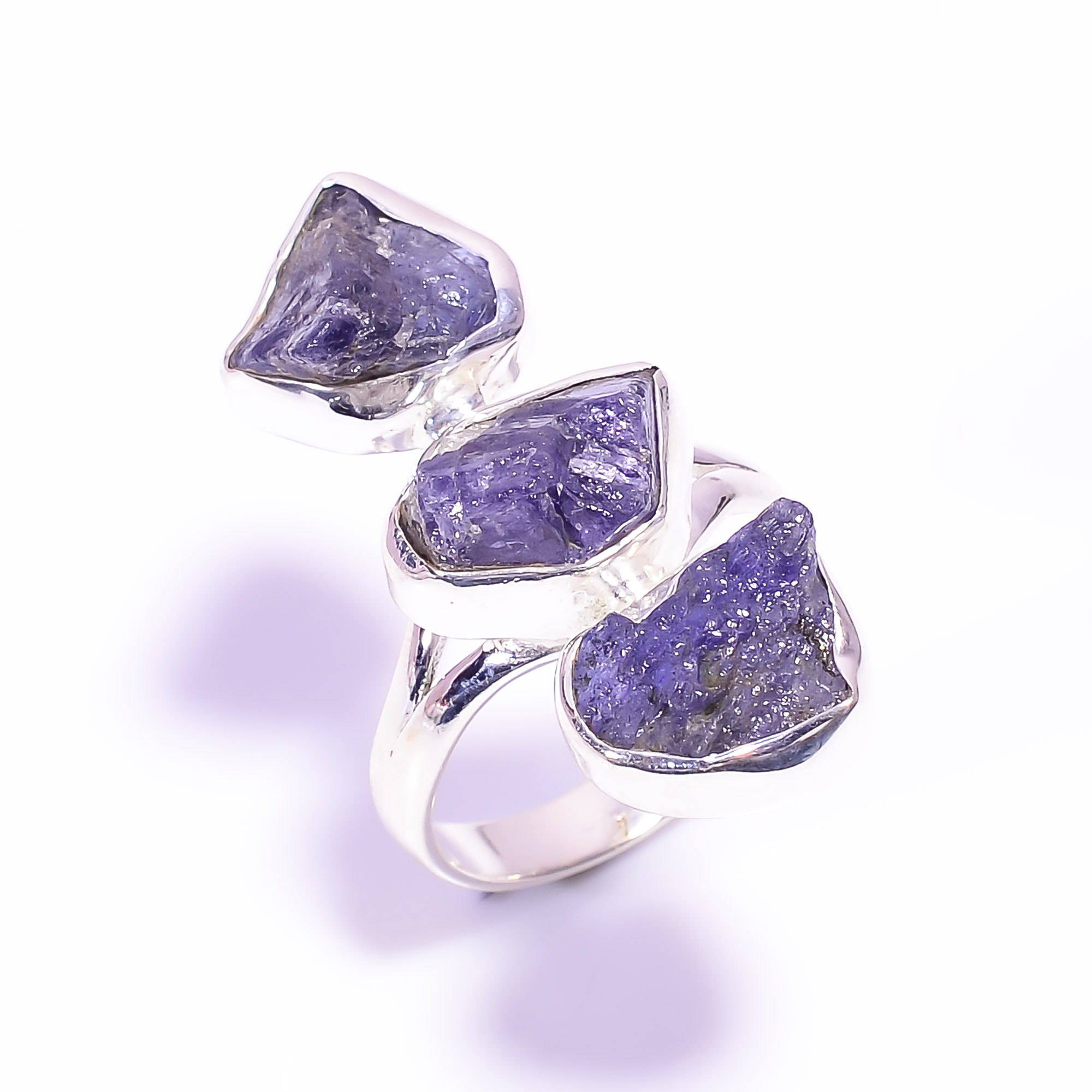 Tanzanite Raw Gemstone 925 Sterling Silver Ring