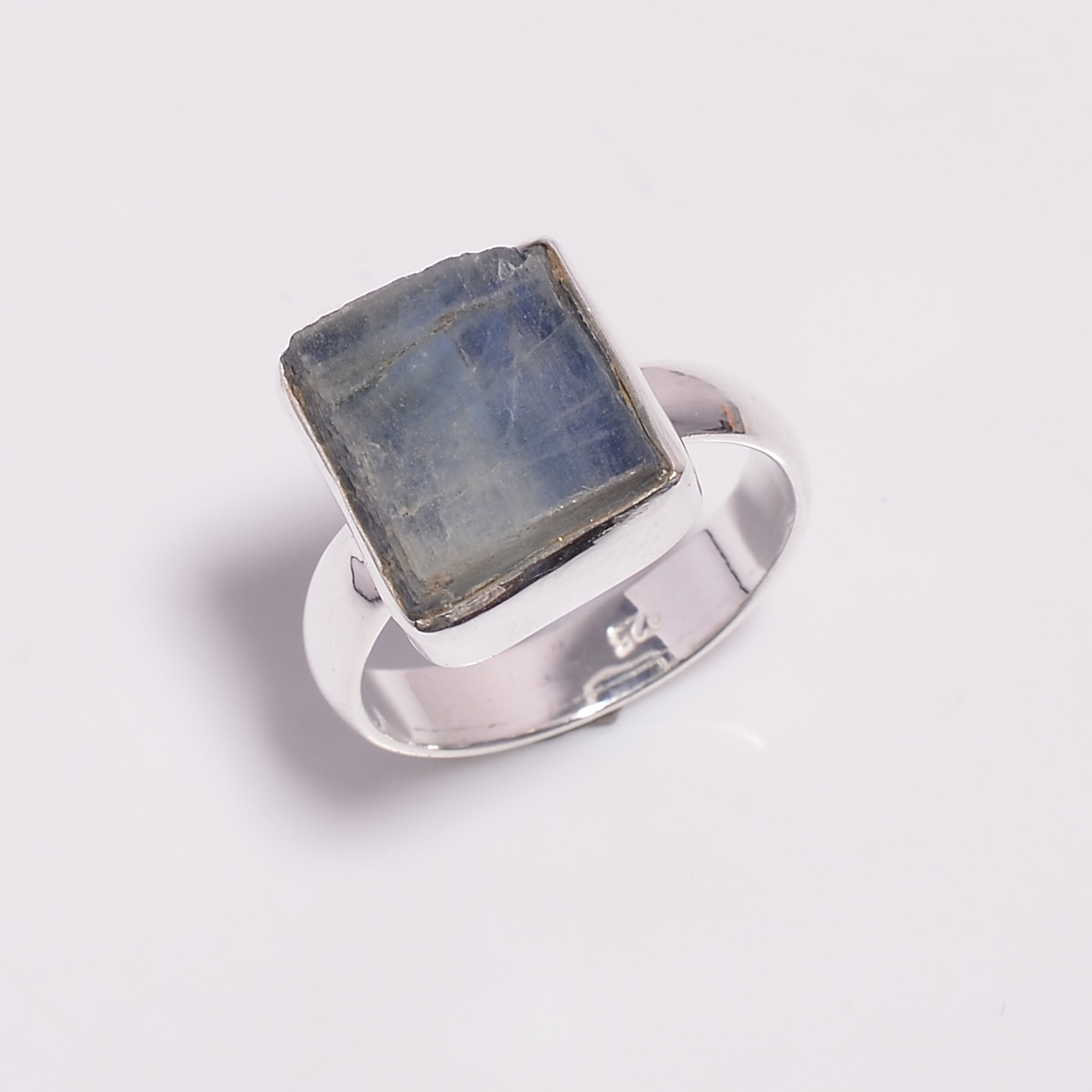 Raw Blue Kyanite Gemstone 925 Sterling Silver Ring Size US 7.75